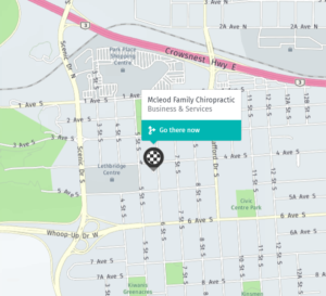 McLeod Family Chiropractic Map